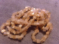 1 Strand Peach Color Cats Eye Glass Bead Chips