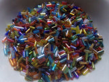 Mixed Silver Lined Bugle Beads