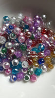 100 pc Mixed Drawbench Glass Beads 6mm