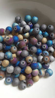 100 pc Mixed Stardust Glass Beads 6mm