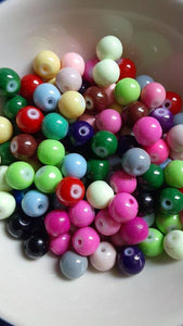 100 pc Mixed Opaque Glass Beads 8mm