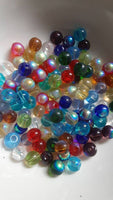 100 pc Mixed Half AB Plated Glass Beads 6mm