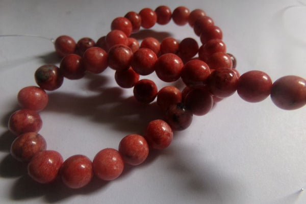 1 Strand Orange Red Crazy Agate Beads 8mm
