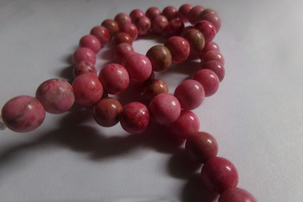 1 Strand Pink Crazy Agate Beads 8mm