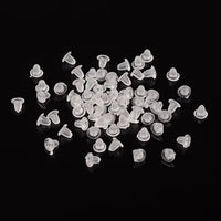 200 pc Plastic Clear Earring Backs