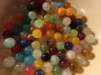 100 pc Mixed Round Acrylic Beads size 6mm