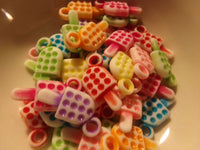 50 pc Mixed Color Popsicle Ice Cream Acrylic Charms