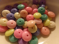 100 pc Mixed Color Saucer Acrylic Beads