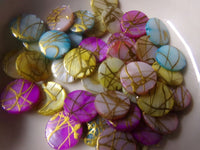 Mixed Dyed Color Drawbench Shell Beads