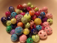 100 pc Mixed Blingy Acrylic Beads