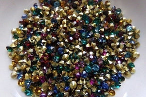 500 pc Mixed Resin Rhinestone Cabochons 3mm
