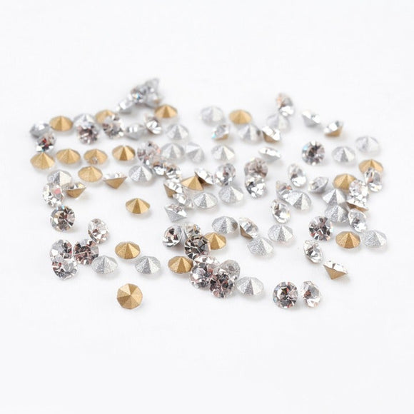 500 pc Glass Rhinestone Cabochons 3mm