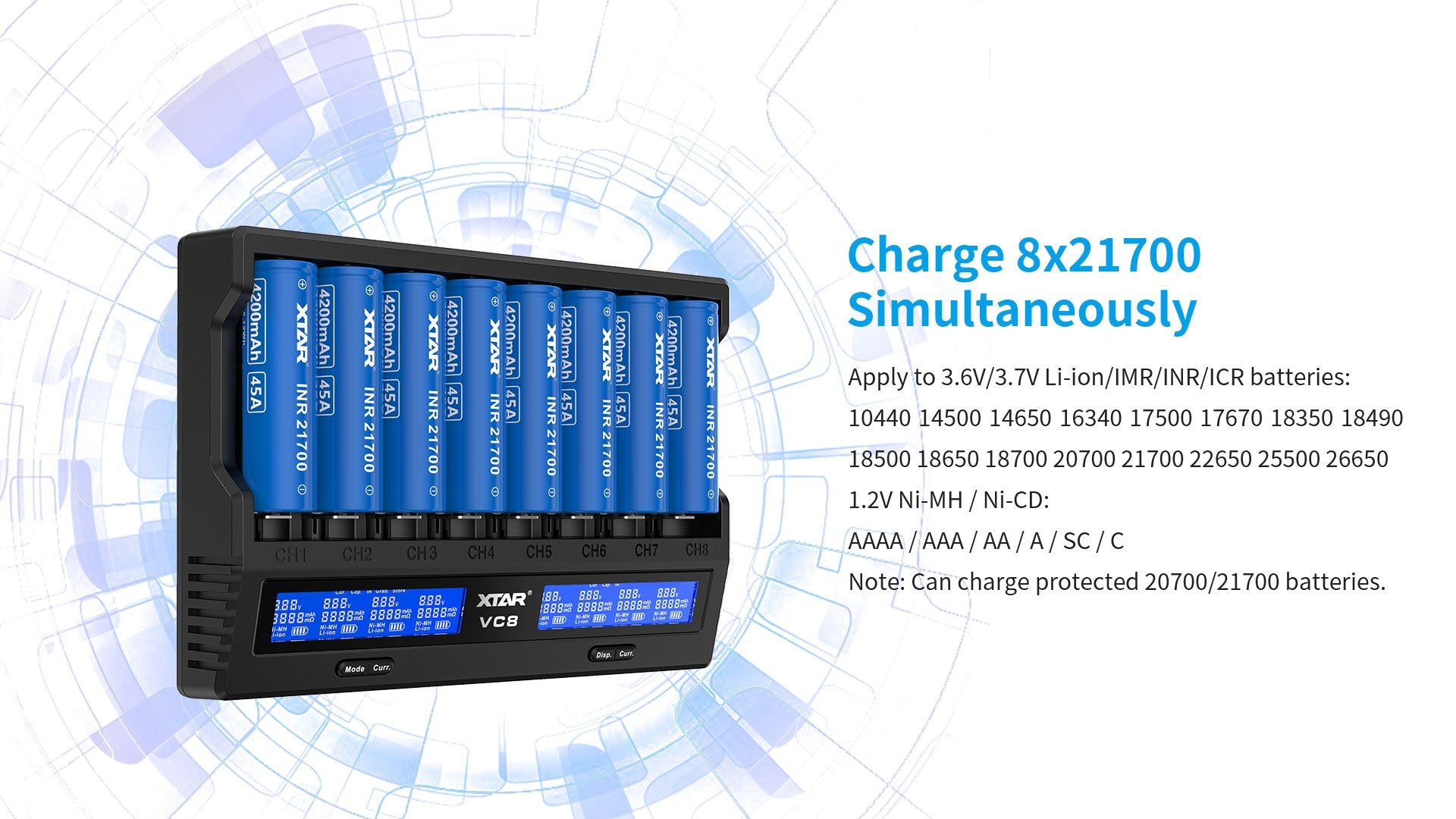 Xtar VC8 Battery Charger