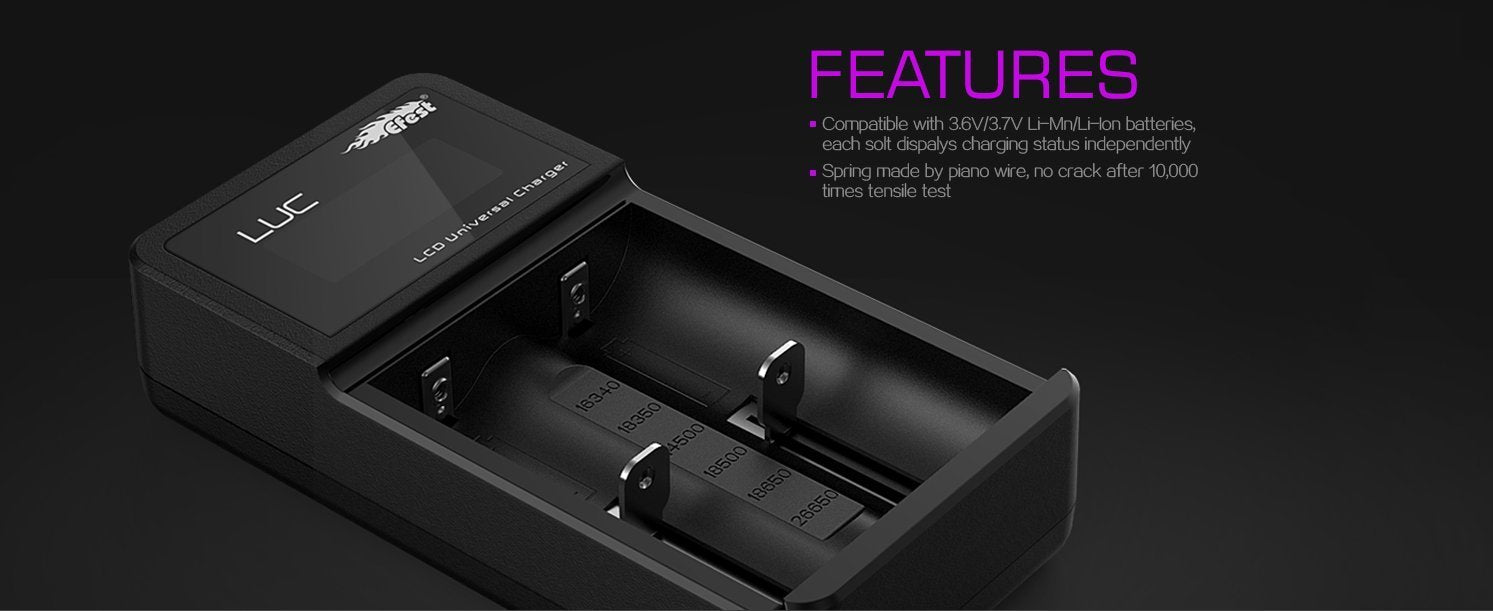 Efest LUC V2 2 Bay LCD Battery Charger