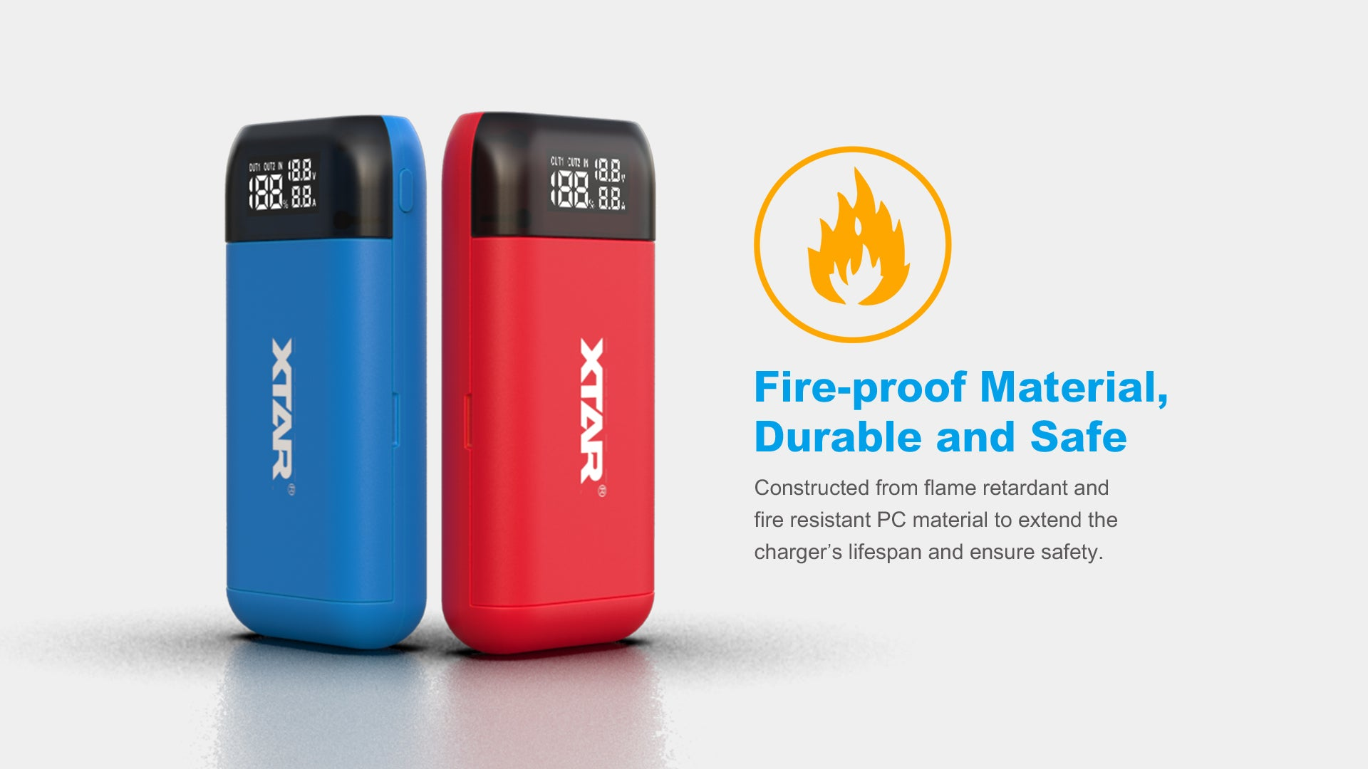 Xtar PBS2 Red Battery Charger and Powerbank