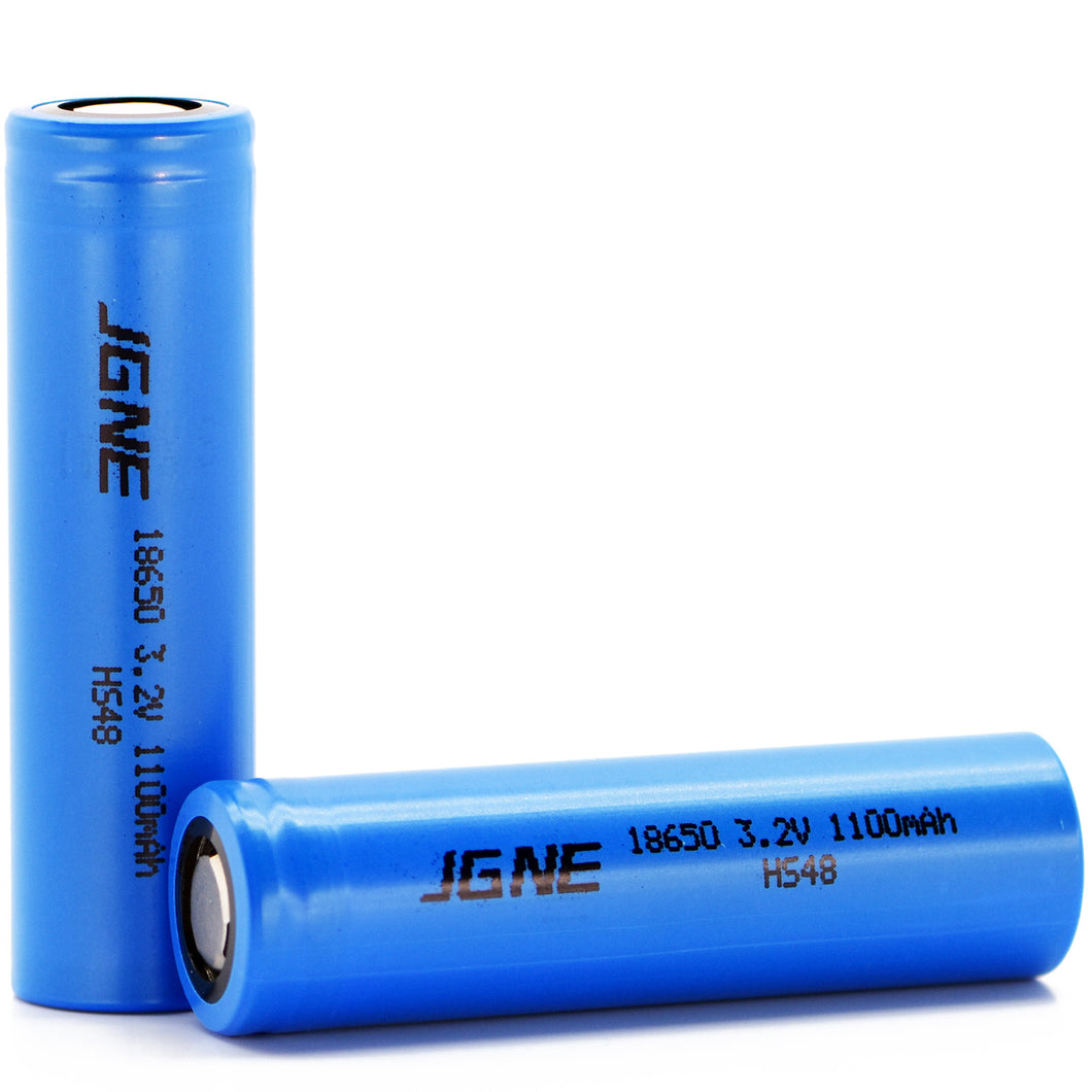 JGNE 3.2V 18650 1100mAh 33A LiFePO4 Battery