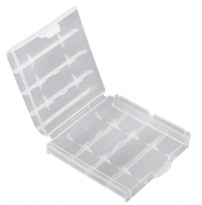 14500 (AA) Battery Carrying Case - 4x 14500 (AA)  - Clear