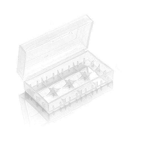 18650 Battery Carrying Case 2x Clear