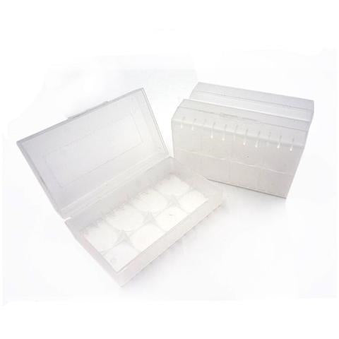 20700/21700 Battery Carrying Case 2x Clear