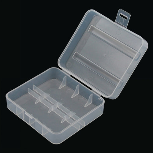 26650 Battery Carrying Case - 2x 26650 - Clear