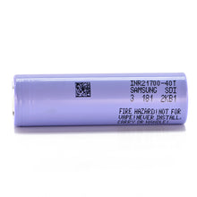 Load image into Gallery viewer, Samsung 40T 21700 4000mAh 35A Battery (40T3)
