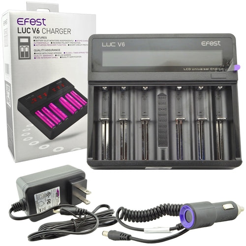 Efest LUC V6 6 Bay LCD Battery Charger