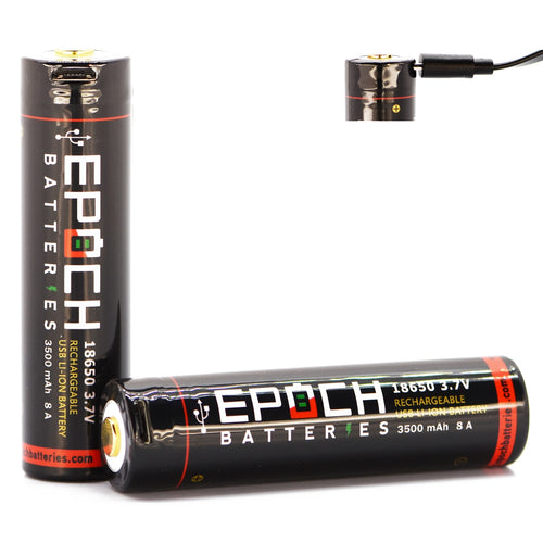 Epoch 18650 3500mAh 8A USB Rechargeable Protected Battery