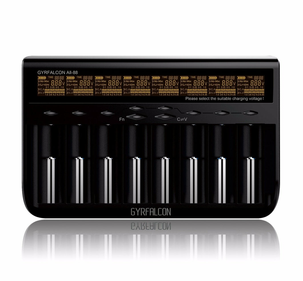 Gyrfalcon All-88 Professional 8 Bay Battery Charger