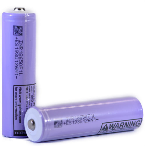 LG F1L 18650 3350mAh 4.87A - Button Top Battery