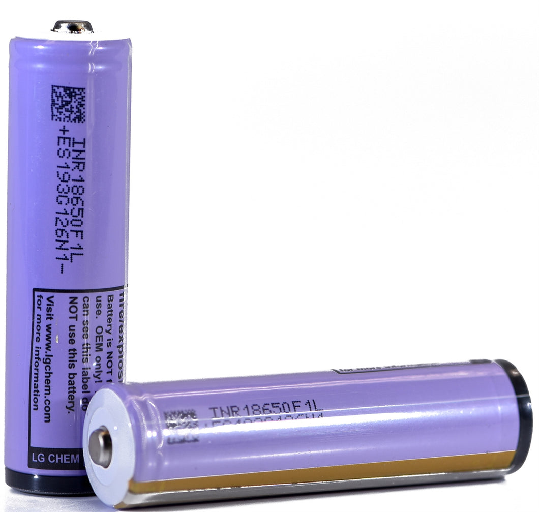 LG F1L 18650 3350mAh 4.87A - Protected Button Top Battery