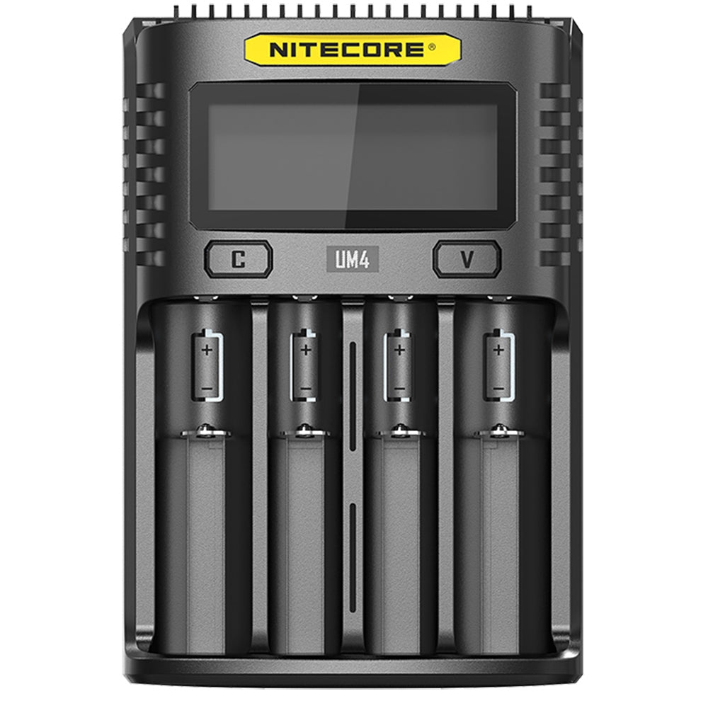 Nitecore UM4 4 Bay Digital LCD Battery Charger