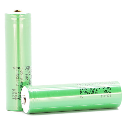Samsung 25R 18650 2500mAh 20A - Button Top Battery