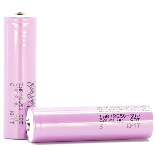 Samsung 30Q 18650 3000mAh 15A - Button Top Battery