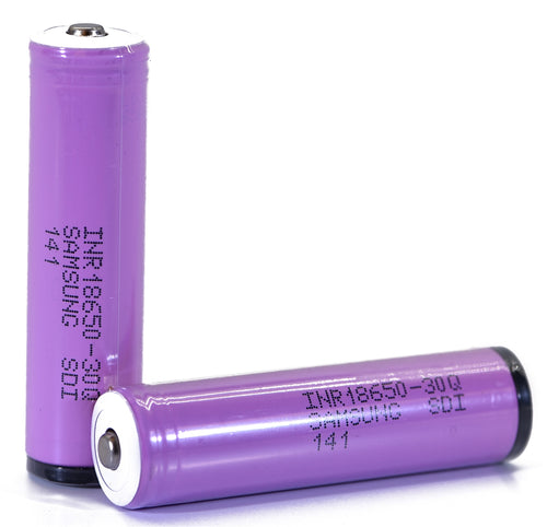 Samsung 30Q 18650 3000mAh 15A - Protected Button Top Battery