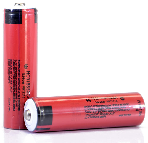 Sanyo NCR18650GA 3500mAh 10A - Button Top Battery