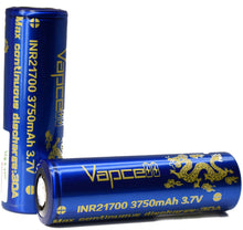 Load image into Gallery viewer, Vapcell 21700 3750mAh 30A Battery