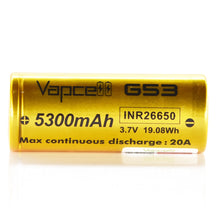 Load image into Gallery viewer, Vapcell 26650 5300mAh 20A G53 Battery (Gold)