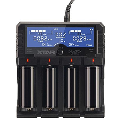 XTAR Dragon VP4 Plus 4 Bay Digital Battery Charger