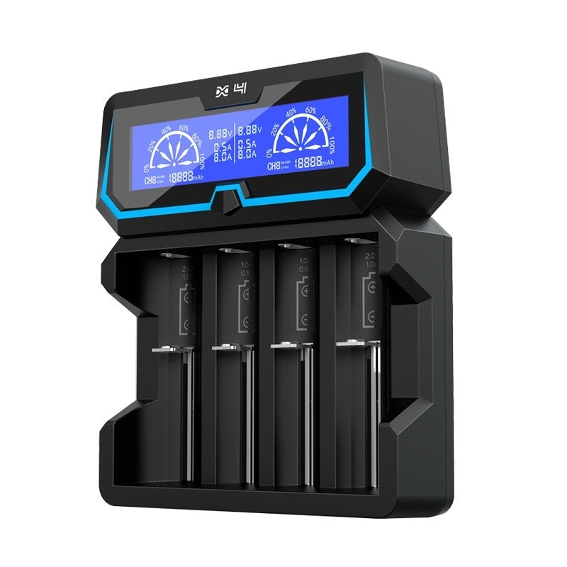XTAR X4 4 Bay Smart Digital LCD Battery Charger