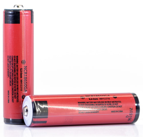 Sanyo NCR18650GA 3500mAh 10A - Protected Button Top Battery