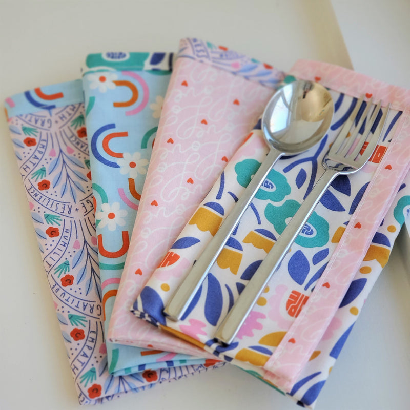 Fat Quarter Earth Day Cloth Napkins Tutorial