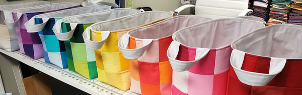 Fabric Baskets all in a row