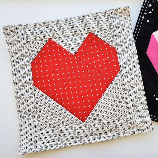 Valentine Mug Rug Pattern | Little Fabric Shop
