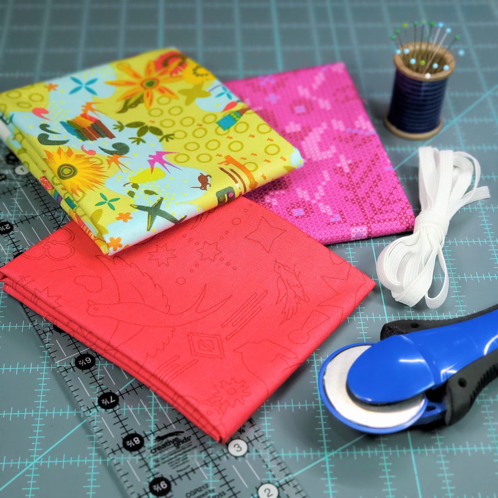 How to make a scrunchie supplies | Little Fabric Shop