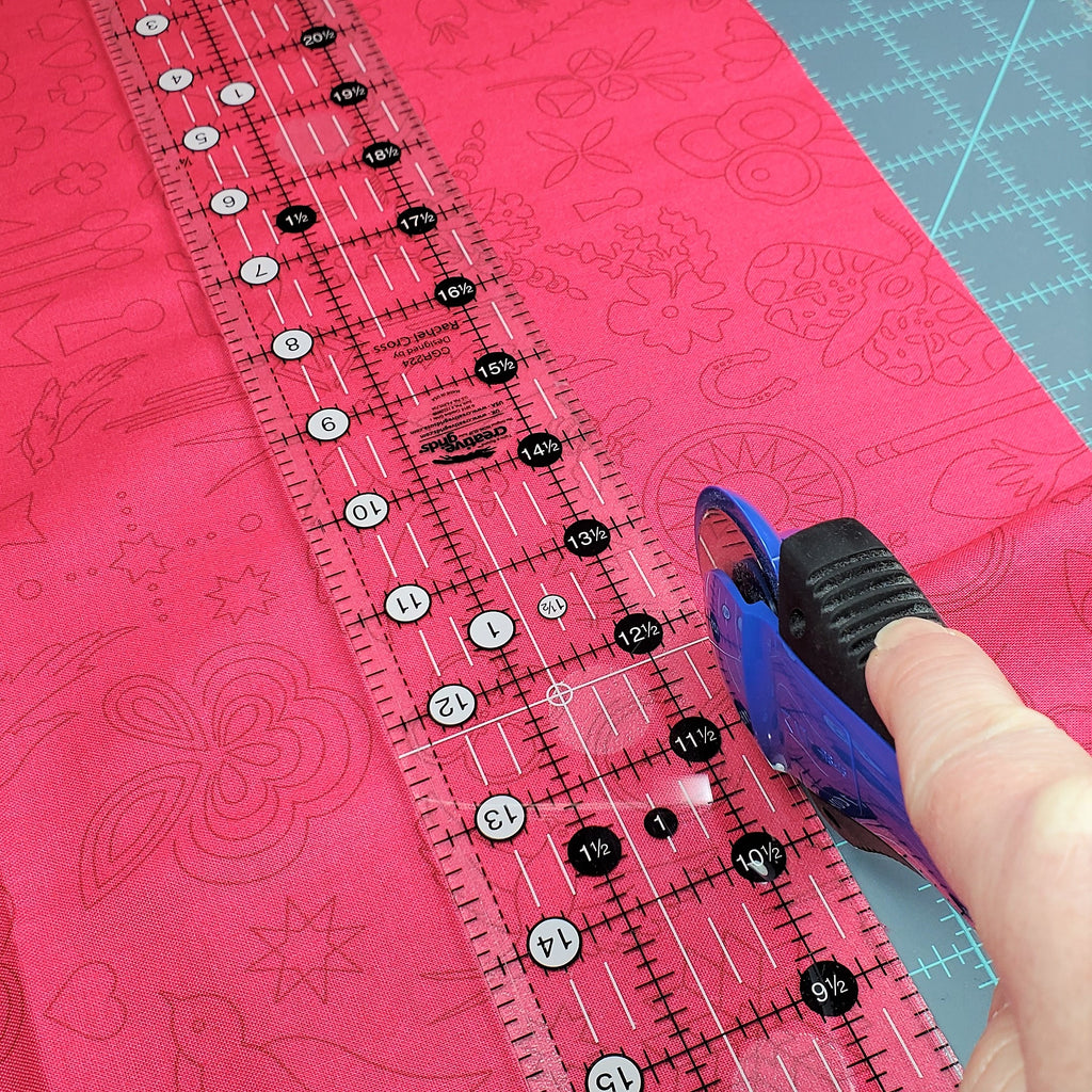 Use a Rotary Cutter to Cut Fabric Strips for Scrunchie