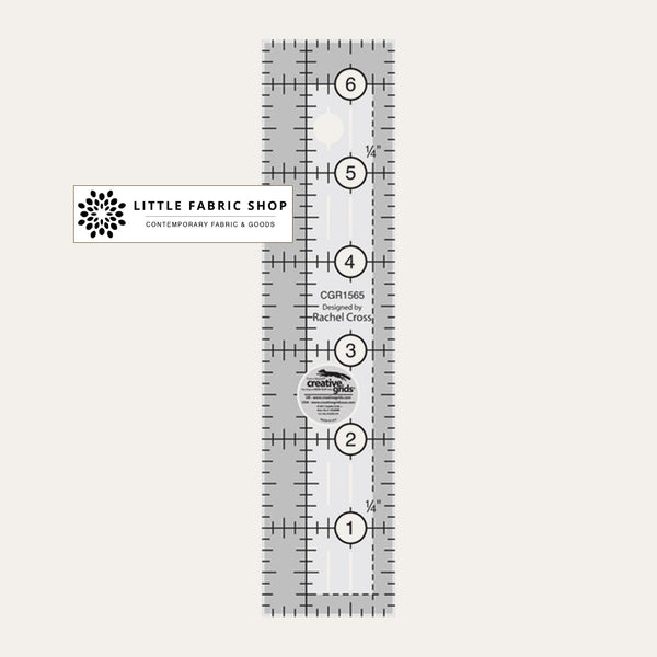 Creative Grips 6 inch Ruler | Little Fabric Shop