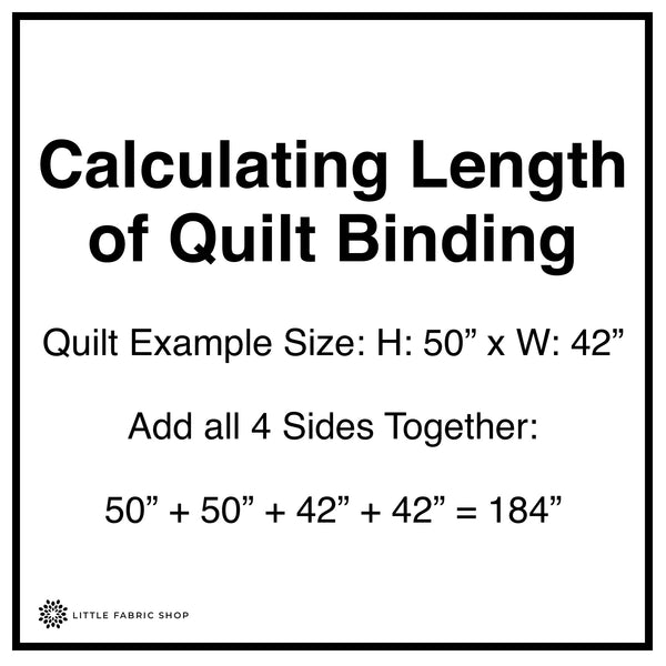 Calculating Length of Quilt Binding | Little Fabric Shop