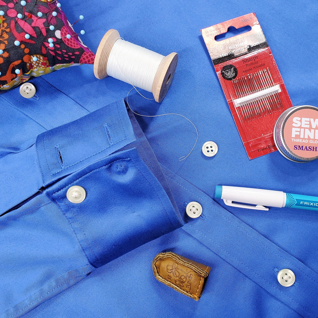 Gather Hand Sewing Supplies to Sew Button