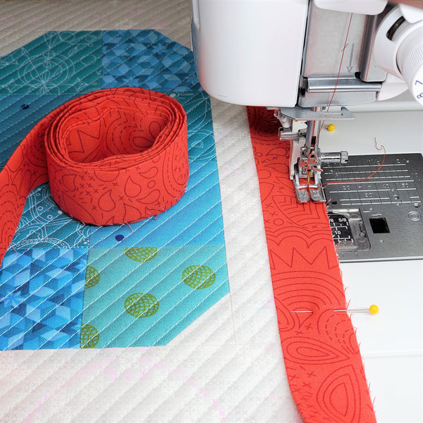 Pin Beginning of Binding in Place | Little Fabric Shop
