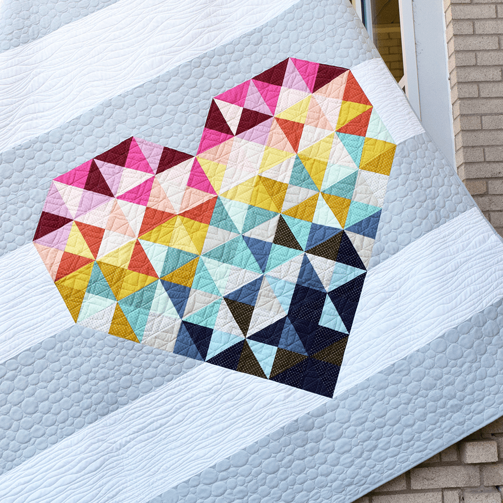 Piece and Love Quilt Pattern | The Cloth Parcel